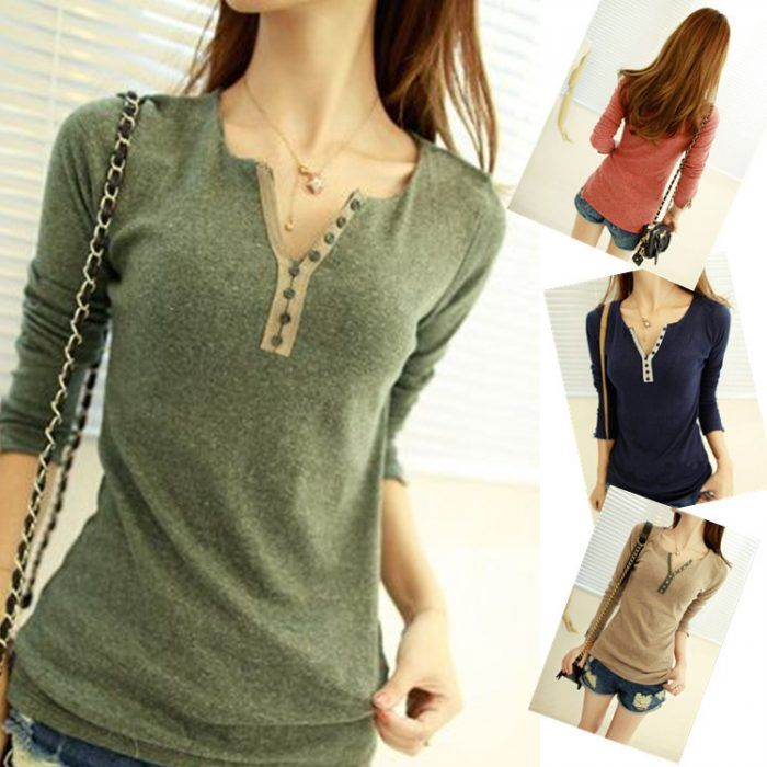 2014 Hot Selling Brand New Women S Tops Tee Long Sleeve T