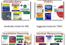 Suggested books for preparing for GRE and TOEFL