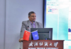 Figure 1: Prof. Dr. Engr. Ayub Nabi Khan giving his speech in WTU, China