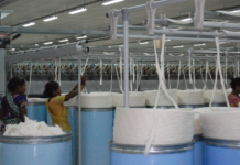 Figure 1: Many of the times workers working inside the textile mills are directly exposed to cotton dust and fly having short to long terms health hazards.
