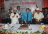 Figure 1: Prof. Dr. Abdul Mannan Choudhury, VC, World University of Bangladesh cutting cake on the occasion of 8th anniversary of the textile engineering department of the university.