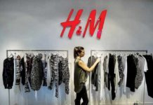 Figure: Inside of an H&M store.