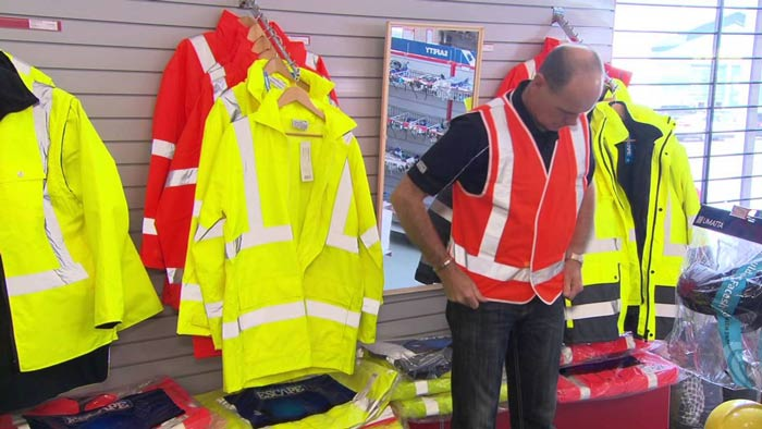 Figure: Showing some high-visibility clothes.