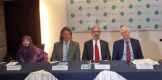 Figure: Jim Moriarty, Alliance Country Director, Paul Rigby, Deputy Country Director & Chief Safety Officer (CSO), Scott Lercel, Senior Executive, Quamrunnessa Babli, Director of Operations, Alliance were also present at the Press briefing