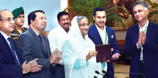 Figure 1: Prime Minister Sheikh Hasina inaugurates three-day Bangladesh Leather footwear and Leather goods International Sourcing Show.