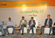 Figure 2: The panel tried to reach to the answers to some basic questions around sustainability. (L-R) Tareq Amin, Editor & Publisher, Textile Today, Engr. Salim Reza, Executive Director, Devine Textiles, Shaheen Mahmud, Chairman, Cotton Group, Engr. Md. Shafiqur Rahaman, President, ITET, Managing Director, HAMS Group, Mathias Foessel CEO, Beyond Surface Technologies, Ketan Deshi, Managing Director, Britacel Silicones Ltd.