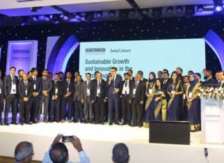 Figure 2: A team of Huntsman Corporation and SwissColours Bangladesh Ltd. in the customer seminar in Dhaka.