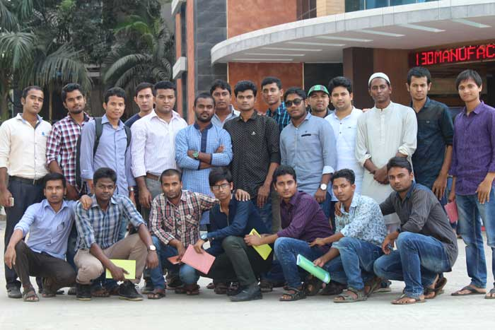 Figure: A group of BTEC students visited Auko-Tex & Divine Textile Limited.