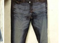 Figure 1: Various laser printed denim jeans.