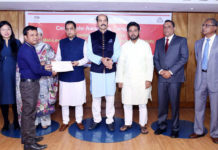 Figure: CEBAI President Md. Atiqul Islam, BGMEA Vice President (Finance) Mohammed Nasir, CEO of CEBAI Brig. Gen. Aftab Uddin Ahmad (Retd) and ILO Program Officer Khadija Khondker, among others were also present at the certificate giving ceremony.