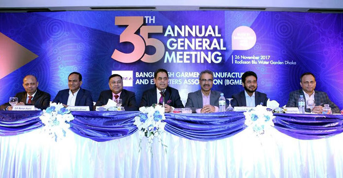 Figure 1: Siddiqur Rahman, President, BGMEA delivered speech at Annual General Meeting in the capital.