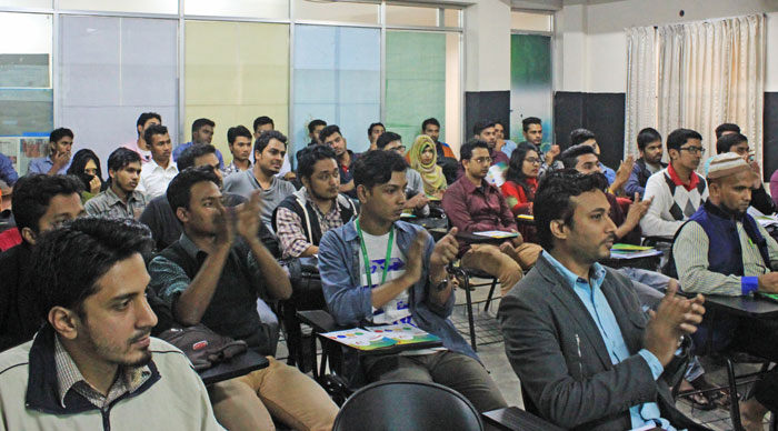 Figure 3: A part of the participants of the campus seminar at Green University.