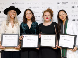 Figure: Four winners of Kering Awards for sustainable fashion.