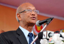 Figure1: Nurul Islam Nahid, Minister of Education gave speech on disabilities education.