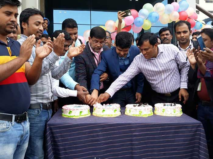 Figure 4: Mr. Syed Ishtiaq Alam, Director and Mr. Khalid Quadir, Nominee,Director, Ananta Denim Technology celebrated New Year by cutting cake.