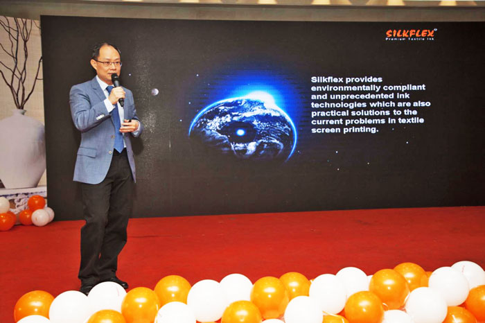 Figure 3: Dr. Eric HL Tan, Director, Silkflex Malaysia delivered speech at the seminar.
