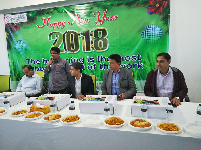Figure 2:  HAMS group celebrated New Year at HAMS Industrial campus.