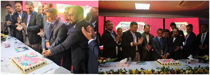 Figure 1: Distinguished guests celebrated the 10th anniversary of Bangladesh Textile Today by cutting a cake.