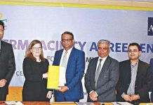 Figure: Ali Reza Iftekhar, Managing Director and CEO of EBL, and Christine Engstrom, Director of Private Sector Financial Institutions Division at the ADB were present MoU at the signing ceremony on 12 February in the city.