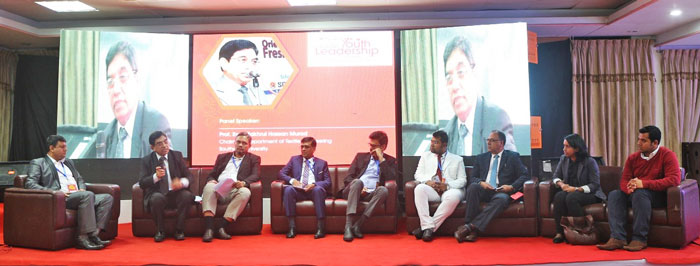 Figure 2: Distinguished guests in the panel along with the keynote speaker ATM Mahbubul Alam Milton and the moderator Prof. Dr. Ayub Nabi Khan in the session 'Transformation'.