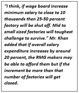 What should be the new minimum wage for RMG workers and what will be