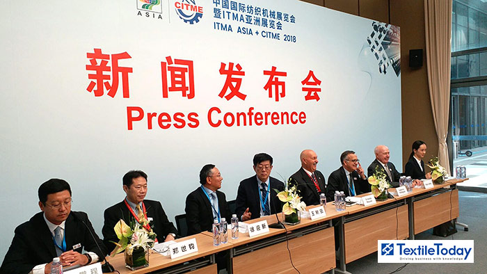 Distinguished guests at the ITMA Asia+CITME 2018 press conference