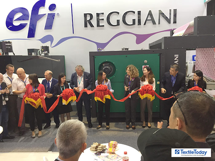 EFI Reggiani's COLORS printer and TERRA Pigment Ink Solution drive new capabilities for customers at ITMA Asia 2018