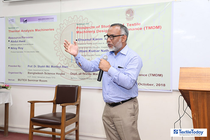 Prof. Dr. Shaikh Md. Mominul Alam, Head, Department of Textile Machinery & Maintenance BUTEX