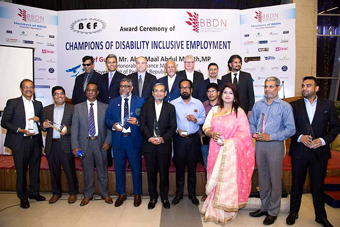 Six apparel makers win award for employing person with