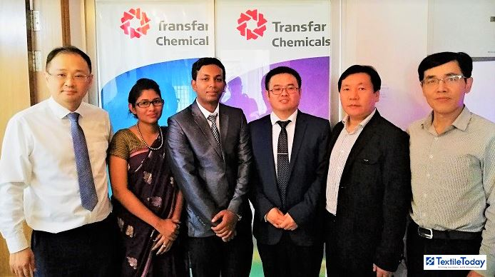 Shengpeng Wang, Technical Center Director; Youlin Fu, Vice President; Bruce Liu Senior Sales Manager and Amit Sarker Technical Engineer of Transfar International Group