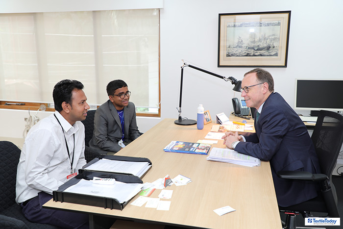 H. E. Harry Verweij, the Netherlands Ambassador to Bangladesh with Textile Today