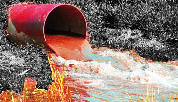 Untreated effluents in textile