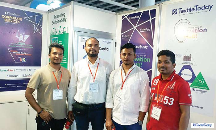BD students @ Textile Today booth at ITMA