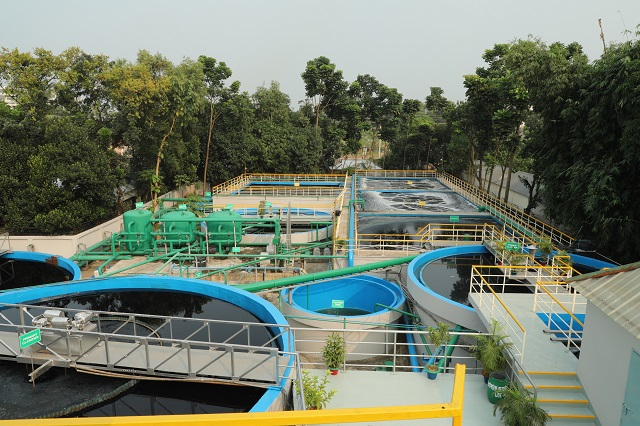 water treatment plant at textile factories
