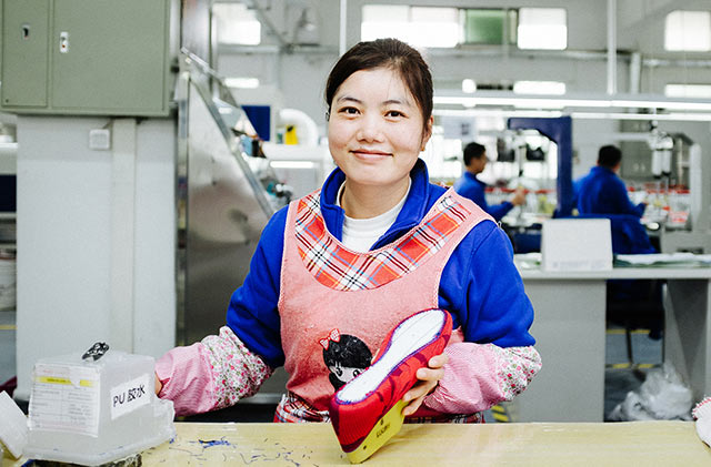 Rothy's shoe, China factory