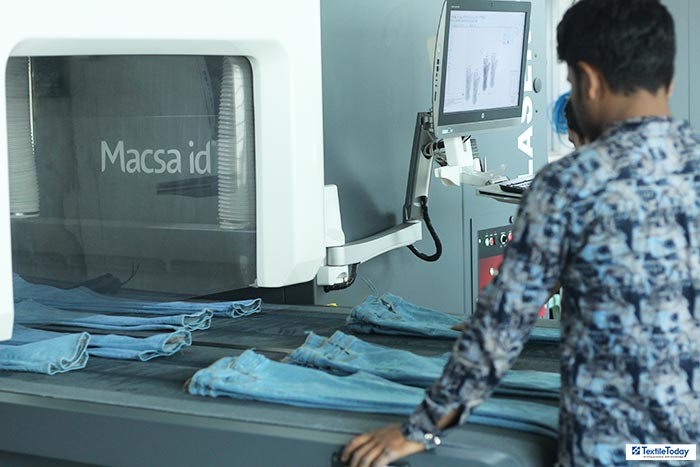 laser denim production
