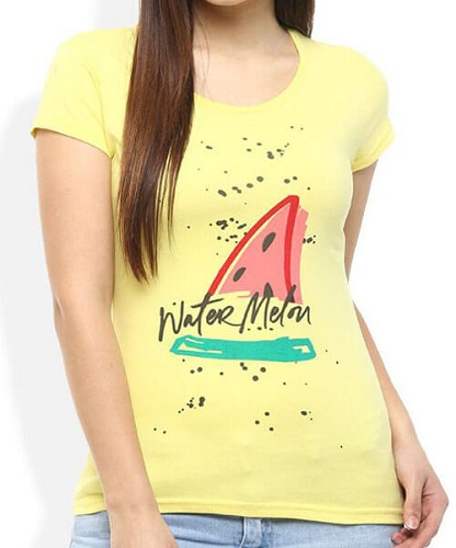 Women Embossed Printed T-Shirt
