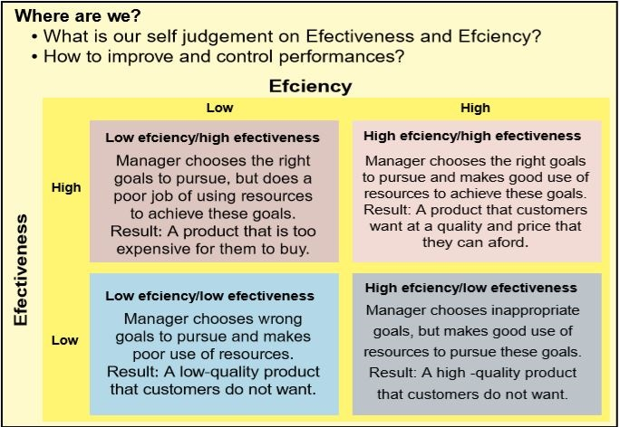 high-low Effectiveness, efficiency