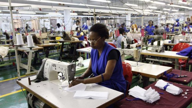 South Africa garments workers